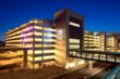 Architectural mesh systems on McCarran T3 Parking structure stairwells