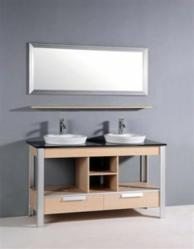 Light Maple Open Construction Bathroom Vanity From Legion Furniture