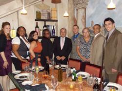 Jeffrey Katz and Walter Ledda congratulate new legal secretary graduates