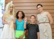 Dr Linda Ma with Tooth Fairy and 2 Happy Kids