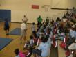 Dr. McShane speaks to the kids