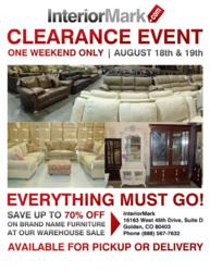Interiormark Llc Announces Its First Warehouse Blowout