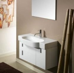 Enjoy Bathroom Vanity By Iotti   White Modern Wall Mount Vanity For A  Contemporary Bathroom ...