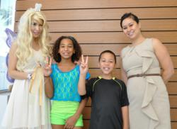 Dr Linda Ma with Tooth Fairy and Patients