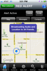 RealHelp broadcasting an alert.