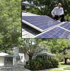Top: Karl Nurse and SolarWorld Module solar panels. Bottom: home of St. Petersburg Council Member Karl Nurse in St. Petersburg, FL