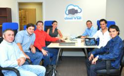 CloudVDI Executives (L-R) Joe Licata, Ryan O'Connor, Channing Applegarth, Lindsey Melendez, Joe Hoffman, Austin Hurst and Zach Hurst at CloudVDI HQ.