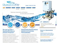 An extension of QuantumFlo's English website, www.quantumflo.com/es was constructed to better reach the fast-growing Spanish-speaking variable speed pump market.