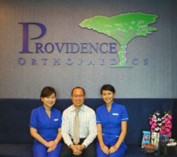 Providence Orthopaedics - (from left) RN Joyce, Dr Siow Hua Ming, RN Fran