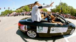 A.M.X. Andre Mieux R&B Music Artist Participates in the 2012 Bud Billiken Parade