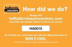 Halfords Autocentres how did we do?