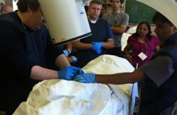 Fluoroscopy training at Albert Einstein College of Medicine