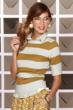 Stripes are here to stay! Thick, thin, chevron and mixed directions – they all add up to style success this fall. DownEast stripes to try include the Campus Sweater.