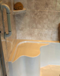 ReBath Northeast offers seated shower bases in their walk-in showers.