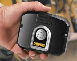 The DeWalt MobileLock GPS tracking and construction equipment theft prevention and recovery device.