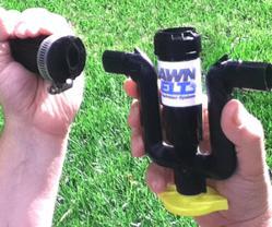 Sprinkler System's U Fitting and Diamond Shaped Conduit