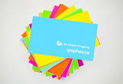 The new Graphos visual identity with 6 corporate colours.
