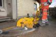 Cutting asphalt
