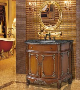 A selection of antique bathroom vanities with unique aged - Antique traditional bathroom vanities design ...