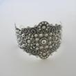 Traditional Mexican Sterling Silver Cuff Bracelet