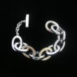 Beautiful Contemporary Silver Bracelet with Thick Links