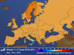 WSI European Weather Outlook Sept.- Nov. 2012