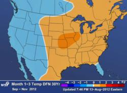 WSI US Weather Outlook Sept.- Nov. 2012