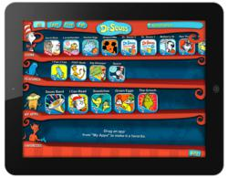 Dr Seuss Bookshelf On IPad