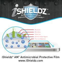 iShieldz® AM™ Antimicrobial Protective Film kills germs and microbes