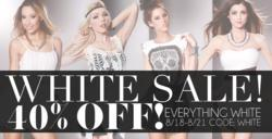 AMIclubwear's 40% All White Sale