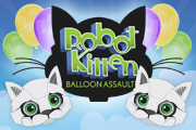 Robot Kitten Balloon Assault Game for Facebook, Chrome, and Android
