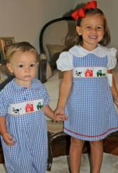 Bulldogs and Bows Smocked Childrens' Outfits image