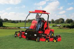 The new Lastec 4250ZSR articulating mower with Cab