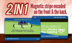 2 In 1: Magnetic stripe encoded on front and back.