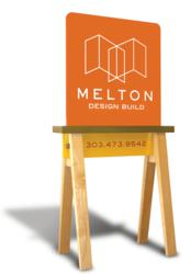 Melton Design Build remodeler jobsite sign photo
