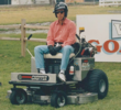 "Tim Allen from ""Home Improvement"" on the Dixie Chopper Jet Mower."