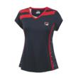 tennis star collection v-neck cap sleeve top