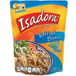 Isadora Refried and Whole Beans are high in fiber, protein and iron; low in saturated fat; contain no cholesterol or trans-fats; and are gluten-free.
