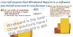 There's a lot to be said about how Windward reporting software and document generation software bring more value than cost to businesses throughout the world.