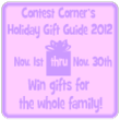 Contest Corner Announces 4th Annual Holiday Gift Guide Launching November 1st