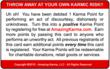Red Debit Karma Card - Back