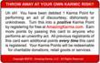 Red Debit Karma Card - Back