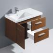 Vigo VG09033118K - 31-Inch Moderna Trio Single Bathroom Vanity With Mirror