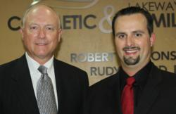Dr. Rudy Izzard, Implant Specialist with Lakeway Center for Cosmetic and Family Dentistry, and Dr. Robert D'Alfonso, Lakeway Cosmetic Dentist