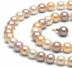 multicolor pearl necklace