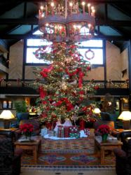 Tenaya Lodge's holiday tree, sustainably harvested from a private local forest.