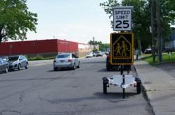 speed display sign, message board, speed trailer
