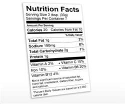 Nutrition Fact Label Generator