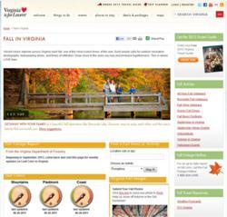 Fall In Virginia website 2012