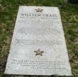 Headstone of William J Craig dedicated by US Secret Service 9/3/2002